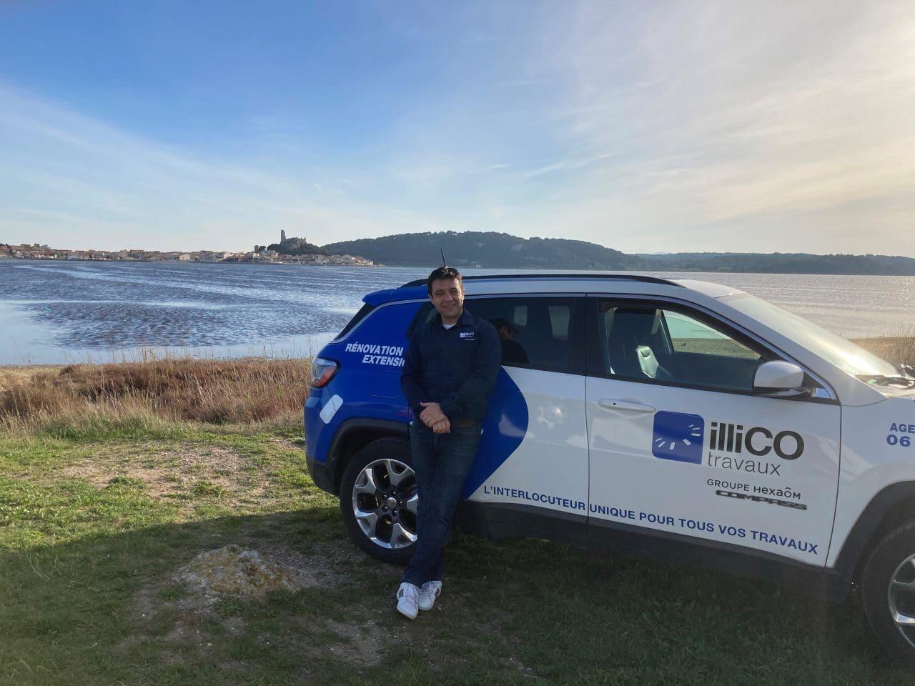 Sébastien Rodriguez responsable de l'agence locale illiCO travaux Narbonne