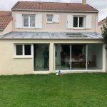 Grandes baies vitrées pour l'extension - Agrandissement de maison à Montigny le Bretonneux