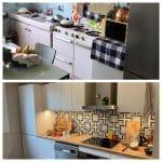 Avant / Après cuisine - rénovation d'un appartement à Grenoble