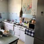 Cuisine avant travaux - rénovation d'un appartement à Grenoble