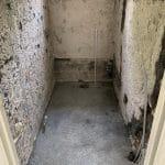 WC déposé en attente des travaux - rénovation complète d'une maison à Nice