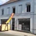 Évacuation des déchets durant le chantier - rénovation complète d'une maison à Leforest dans le Pas-de-Calais