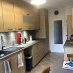 Plan large sur la cuisine rénovée - rénovation d'une cuisine à Echirolles (38)