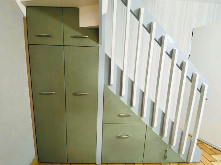 Aménagement sous-escalier à Hallines (62)