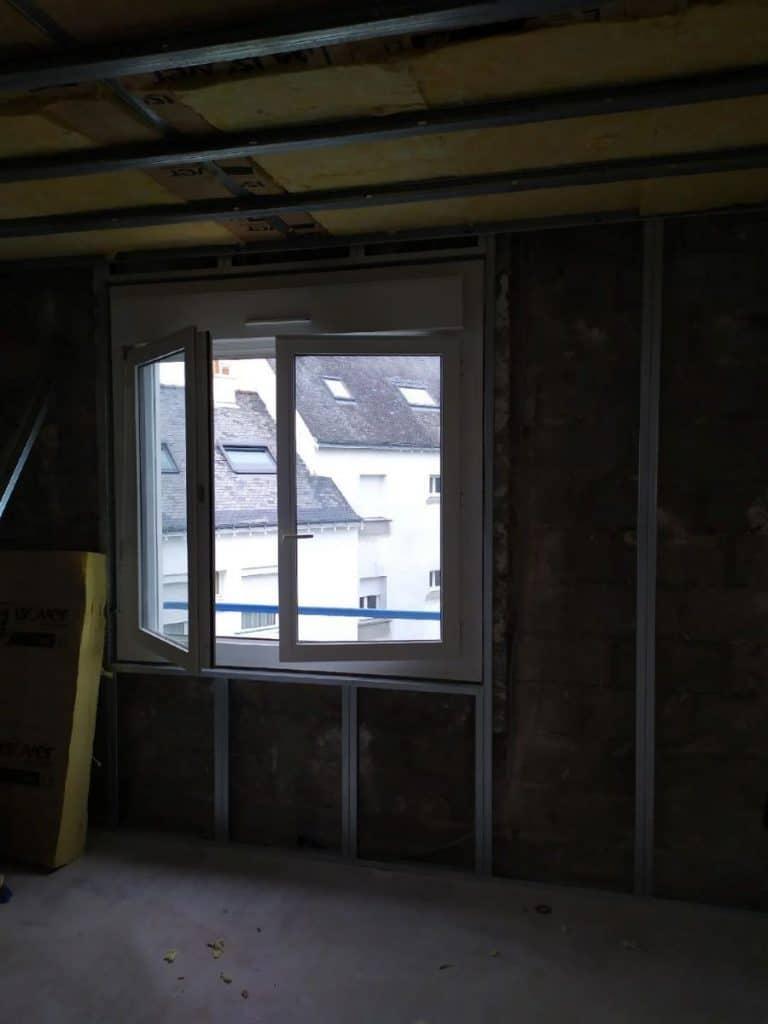 Changement de fenêtres - Rénovation d'un appartement au 2e étage à Lorient en vue d'une mise en location