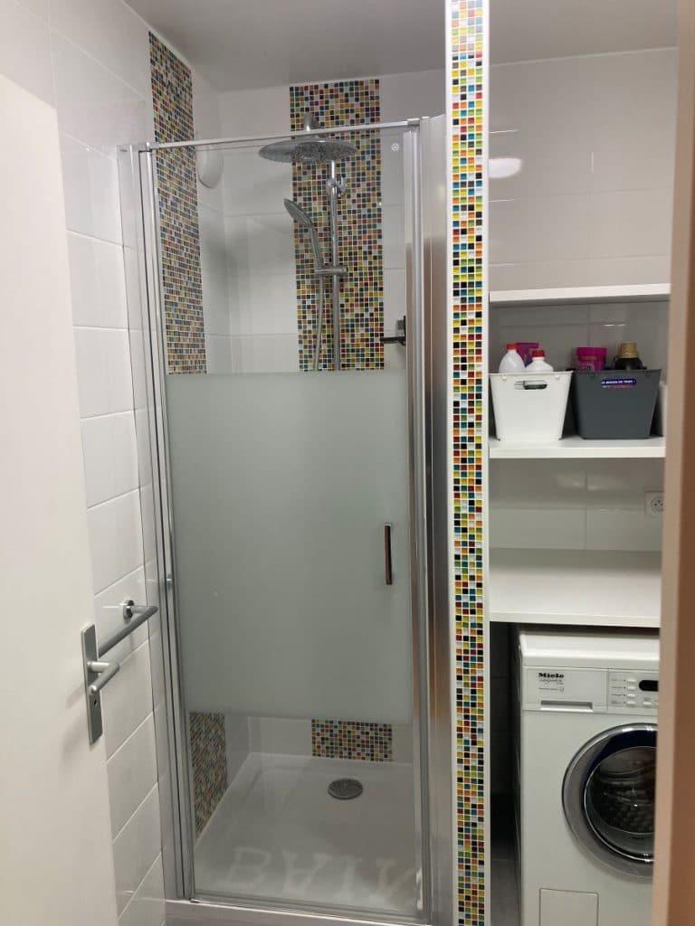 Douche et buanderie - Rénovation de deux salles de bain à Rueil-Malmaison