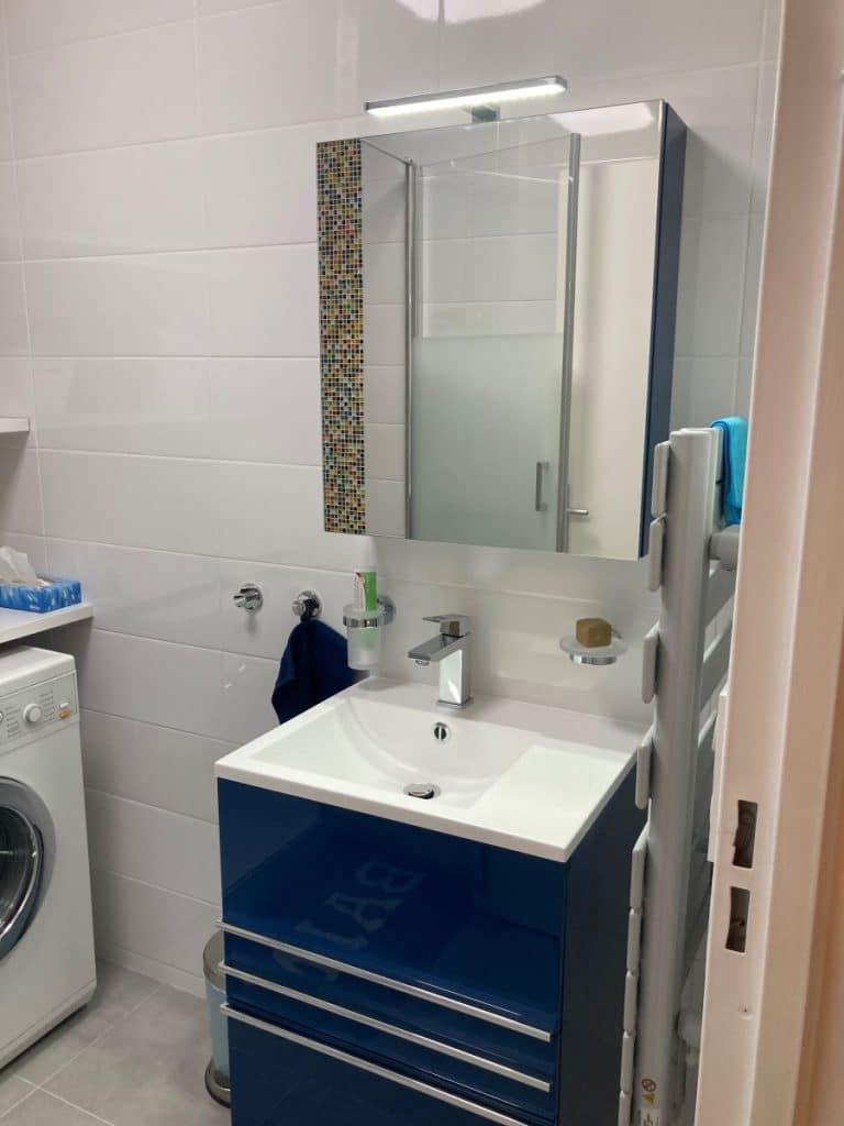 Vasque de la salle d'eau - Rénovation de deux salles de bain à Rueil-Malmaison