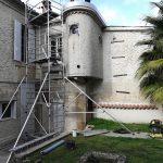 Pose de la seconde couche et relevé d'étanchéité, pose des rives de finition - rénovation d'un toit terrasse à Cognac