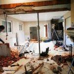 En cours de démolition - Rénovation d'une maison à Ambarès et Lagrave