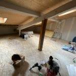 Doublage des murs - aménagement de combles à Saint Loubes