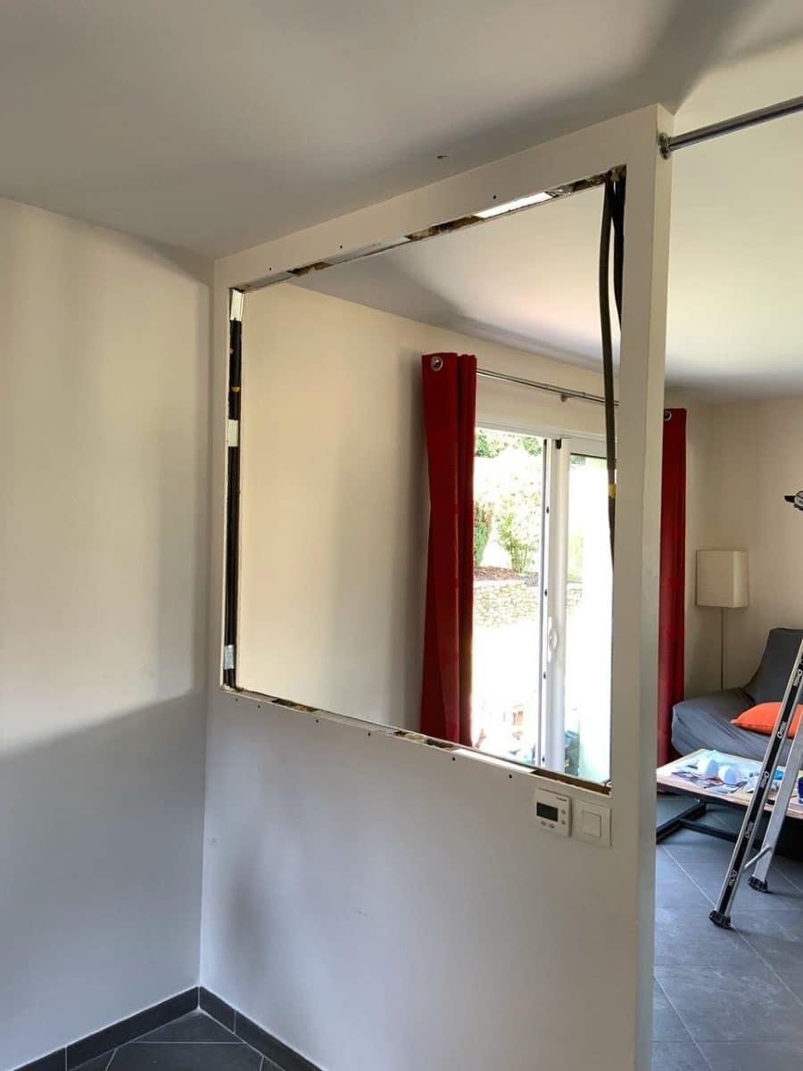 Création d'une verrière intérieure à Eybens (38)