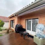 Bardage bois sur extension et maison - Construction d'une extension de maison en bois à Ambarès et Lagrave