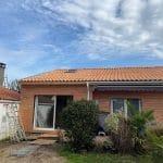 Extension terminée - Construction d'une extension de maison en bois à Ambarès et Lagrave