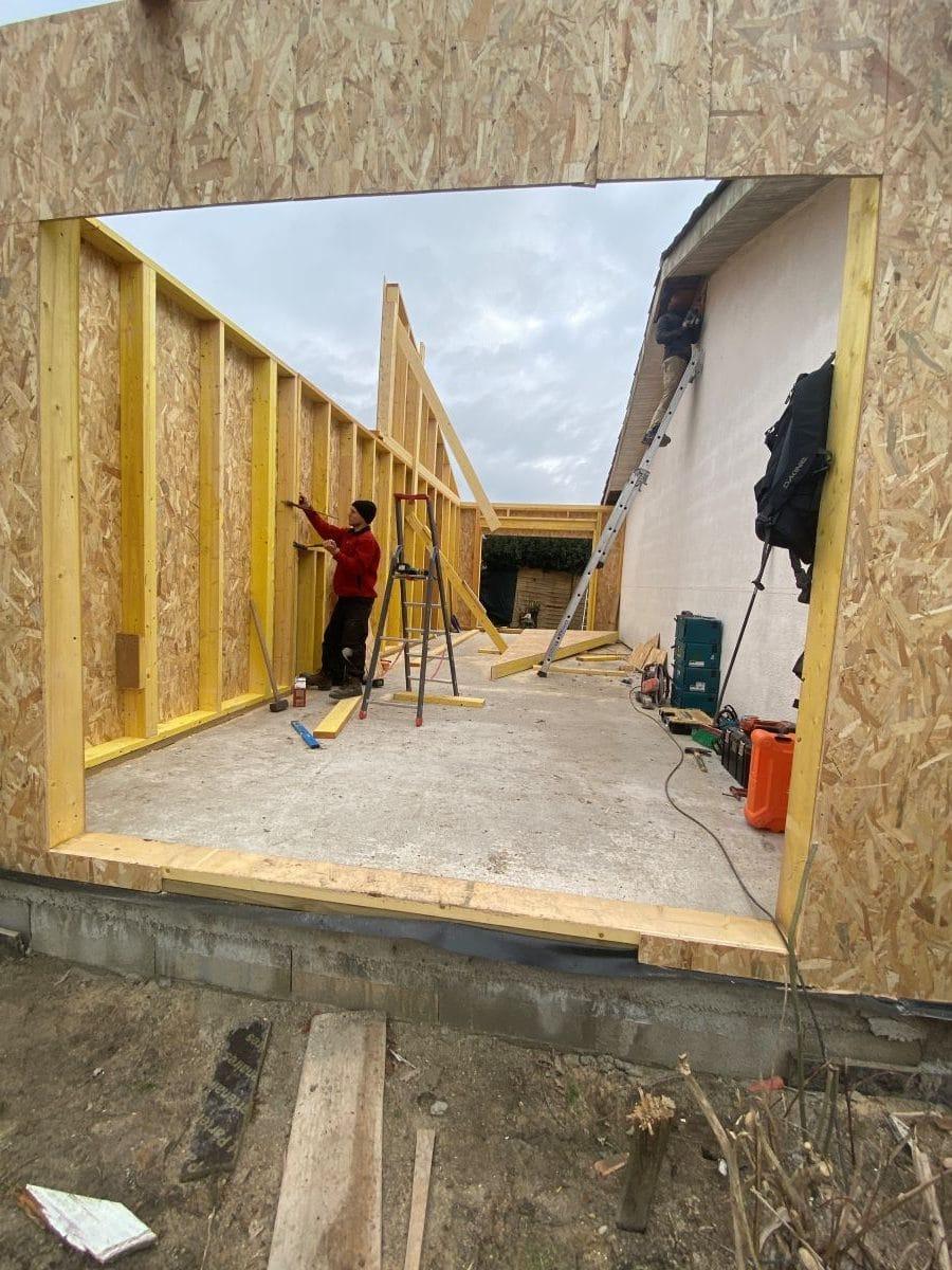 Extension de maison en bois à Ambarès et Lagrave (33)