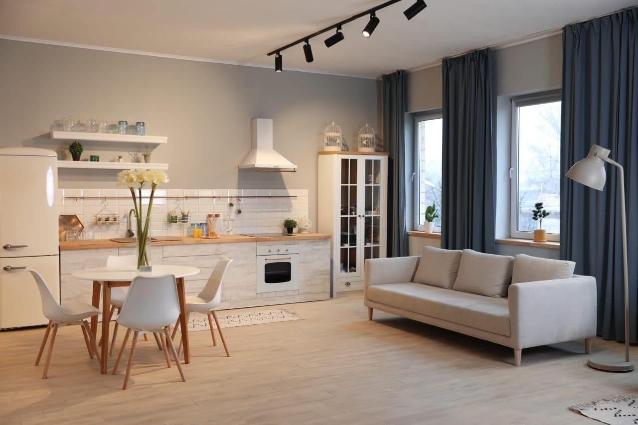 rénovation d'appartement au Mans par illiCO travaux Le Mans : pièce de vie