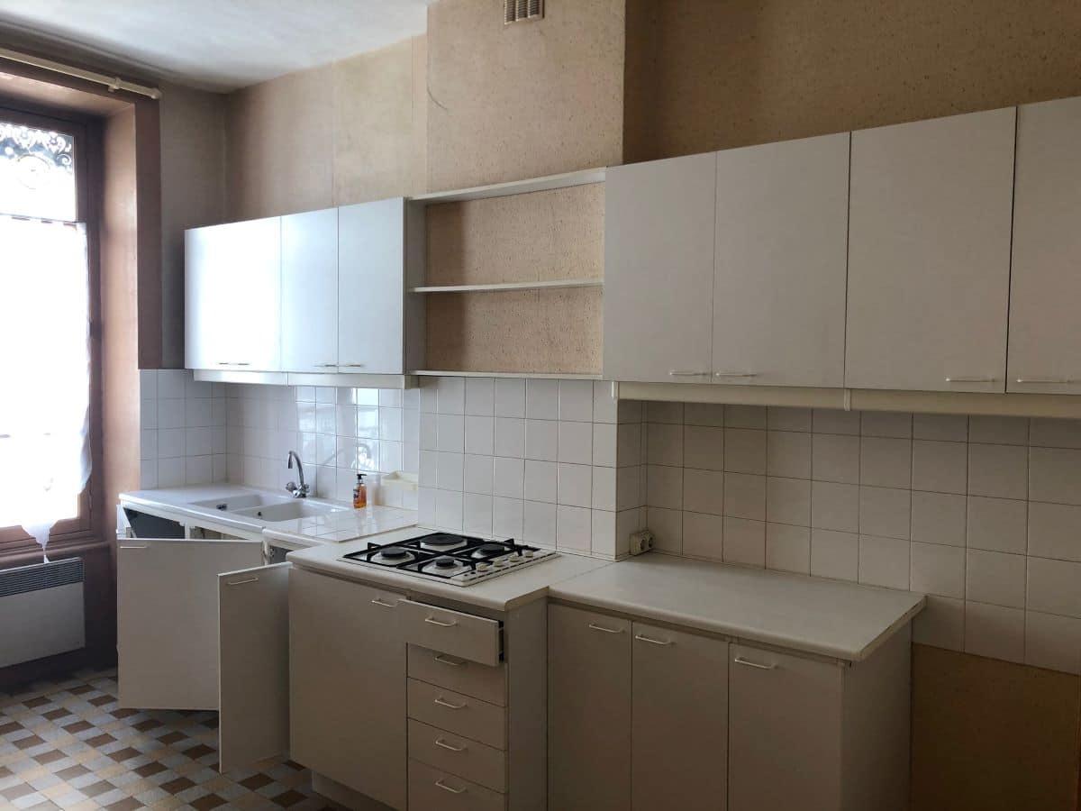 Aménagement de l'ancienne cuisine - rénovation d'un appartement à Lyon