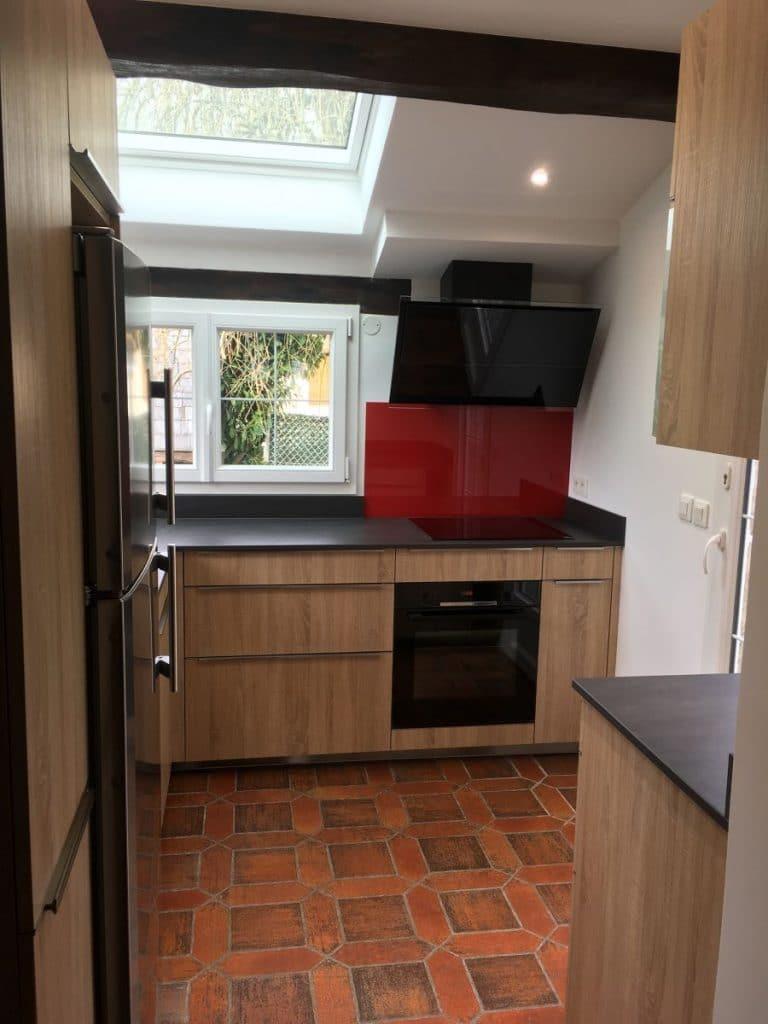 Vue d'ensemble sur la cuisine rénovée - rénovation d'une cuisine à Beynes