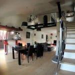 Cuisine ouverte sur la salle à manger - Rénovation complète d'une maison à Etiolles