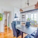 Salle à manger rénovée - rénovation d'une maison à Strasbourg en deux appartements