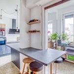 Cuisine aménagée - rénovation d'une maison à Strasbourg en deux appartements