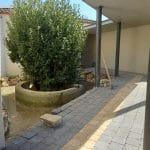Aménagement extérieur d'un patio près de Monptellier