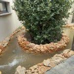 Mise en eau du bassin rénové - Aménagement extérieur d'un patio près de Monptellier