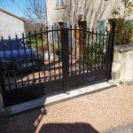 Pose du portail - Aménagements extérieurs à Glaine Montaigut