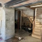 Pose de poutres IPN - maison près de Carcassonnne