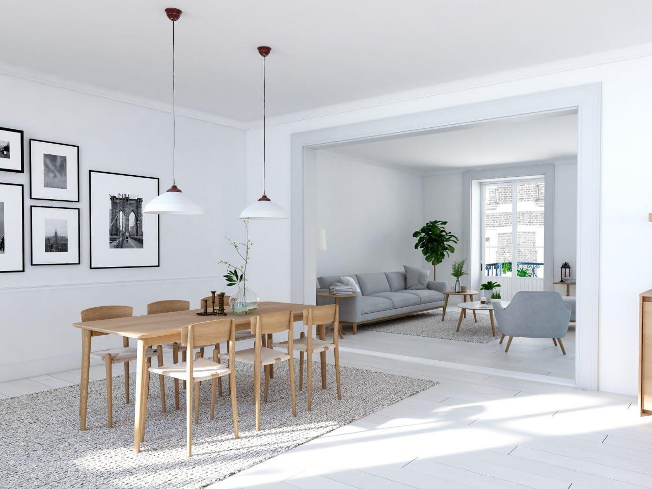 rénovation appartement à Grenoble - salle à manger par illiCO travaux