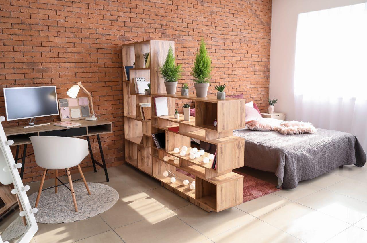 Rénovation d'appartement à Lorient - chambre et bureau