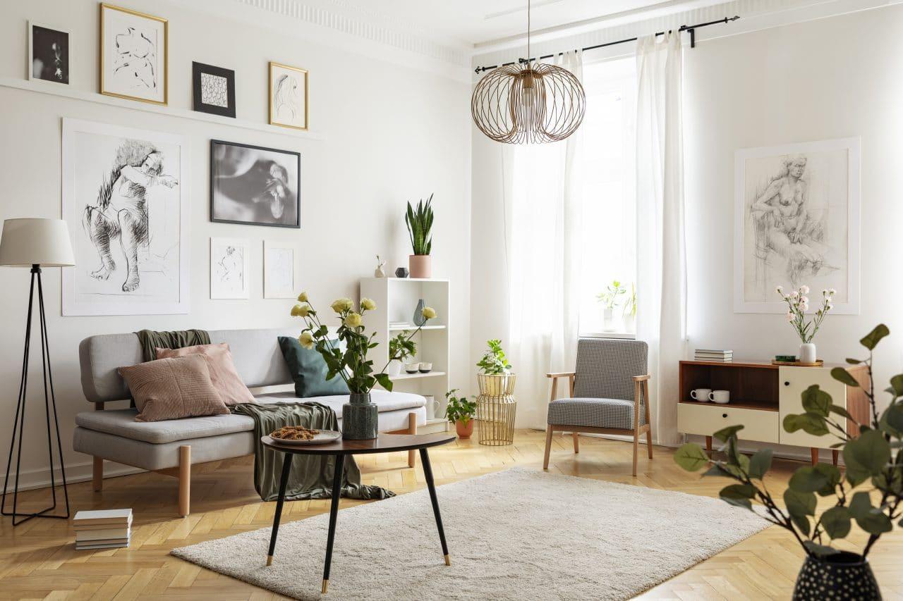 Rénovation appartement à Saint-Étienne par illiCO travaux : pièce de vie