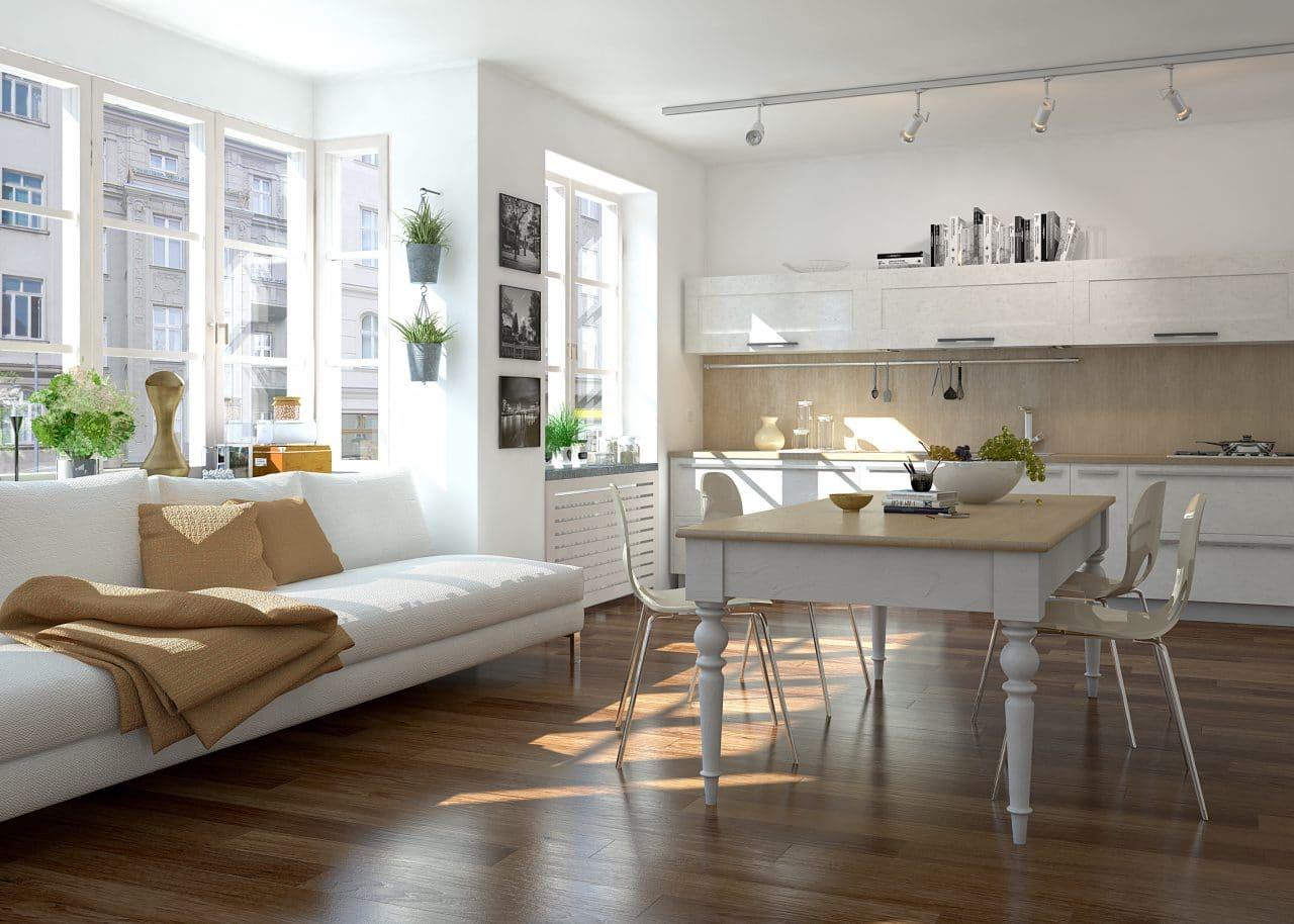 Rénovation appartement à Saint-Étienne par illiCO travaux : cuisine / séjour