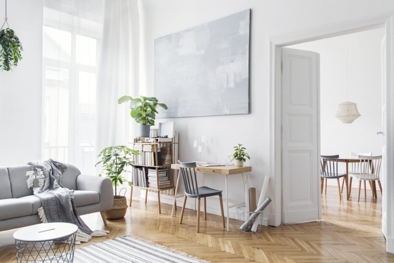 rénovation d'appartement à Tours - pièce de vie par illiCO travaux