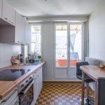 Cuisine aménagée - Rénovation d'un appartement dans l'hypercentre de Strasbourg