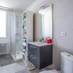 Zoom sur la vasque et la douche - Rénovation d'un appartement dans l'hypercentre de Strasbourg