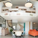 Vue générale de la pièce de vie - rénovation complète d'une maison à Thouars