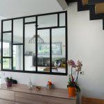 Verrière conçue sur mesure par un Compagnon du Devoir - rénovation complète d'une maison à Thouars