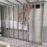 Doublage des murs - Rénovation d'une cuisine à Lorient par illiCO travaux