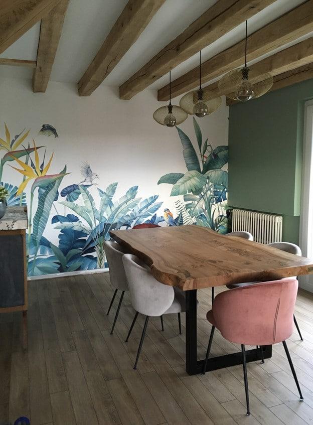 Salle à manger rénovée - rénovation intérieure d'une maison à Olivet dans le Loiret