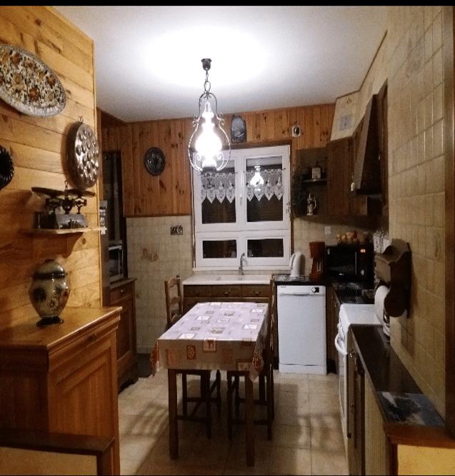 Cuisine avant rénovation - rénovation intérieure d'une maison à Olivet dans le Loiret