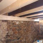 Contre solivage - Rénovation de maison suite à un sinistre à Pléguien (22)