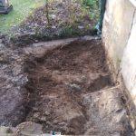 Décaissement - Rénovation de maison suite à un sinistre à Pléguien (22)