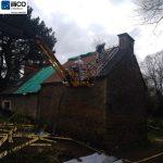 Désamiantage avec entreprise certifiée - Rénovation de maison suite à un sinistre à Pléguien (22)