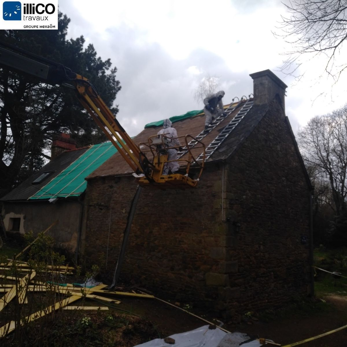 Rénovation partielle d'une maison à Pléguien (22)