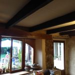 Renforcement du plancher de l'étage - Rénovation de maison suite à un sinistre à Pléguien (22)