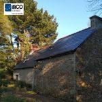 Toiture neuve - Rénovation de maison suite à un sinistre à Pléguien (22)