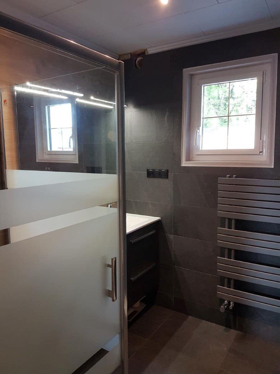 Rénovation d'une salle de bain à Inzinzac-Lochrist, près de Hennebont (56)