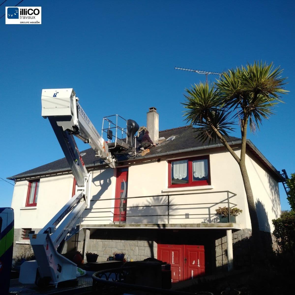 Rénovation d'une toiture à Lézardrieux (22)