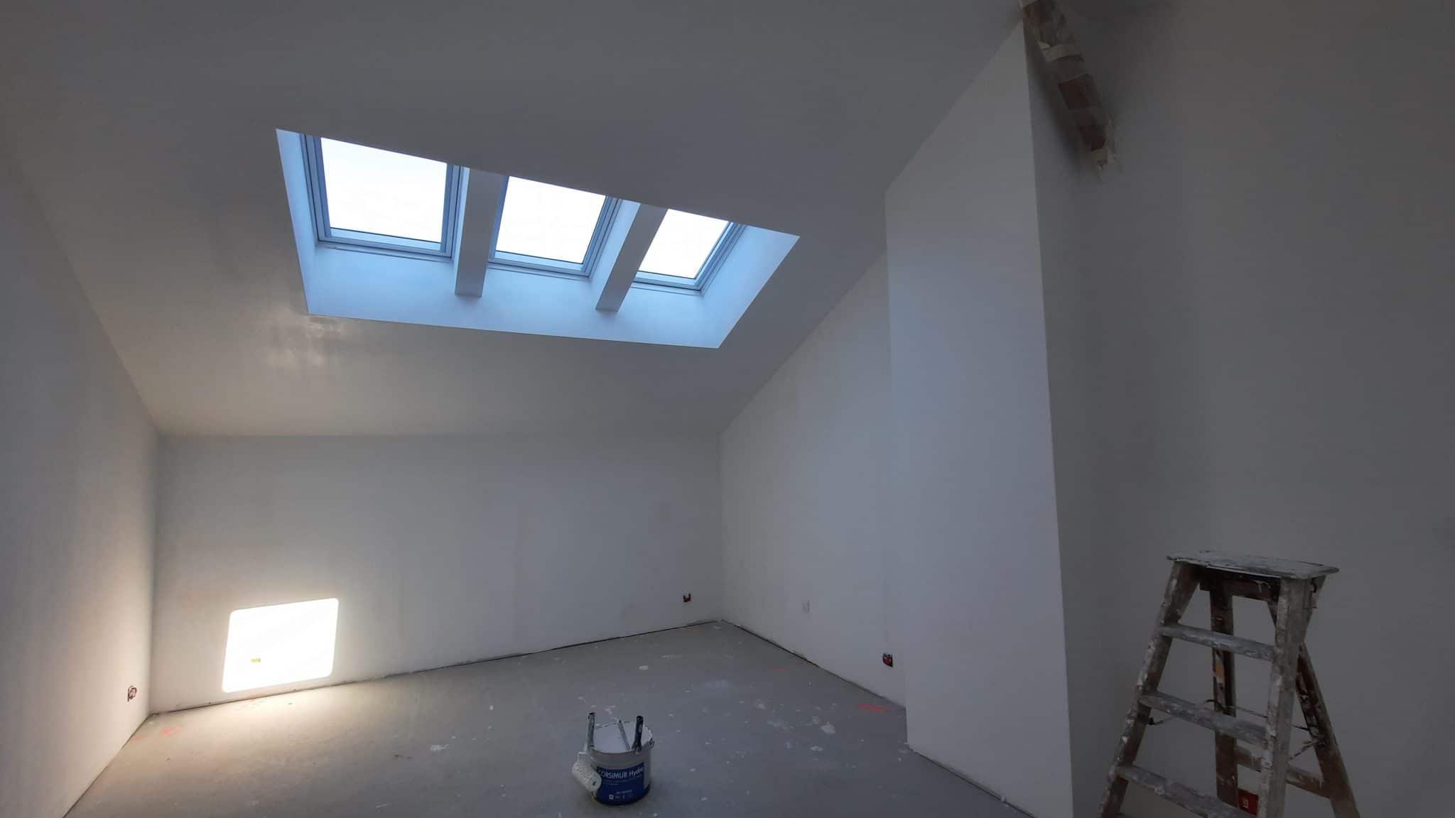 Aménagement de combles d'une maison en pizay à Feillens (01)