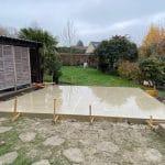 Fondations et dalles béton - Construction d'une extension maison en bois à Arques